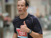 Rob Deutschmann competed in the Scotiabank Marathon